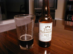 Old Bottle of Ommegang Three Philosophers
