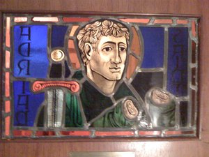 Stained Glass Window of Saint Adrian