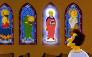 Stained Glass Window from The Simpsons