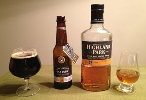 Harviestoun Ola Dubh 12 and Highland Park 12