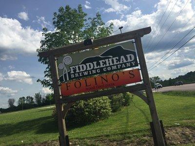 Fiddlehead sign