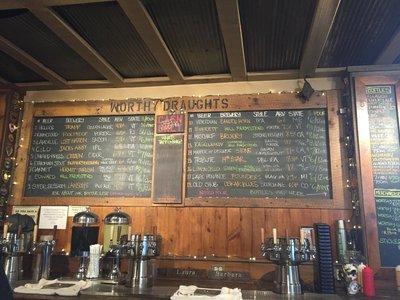Worthy Burger beer menu