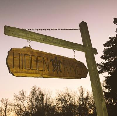 Hidden River Sign