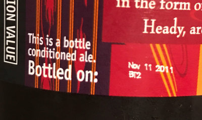 Victory V-Twelve Bottling Date