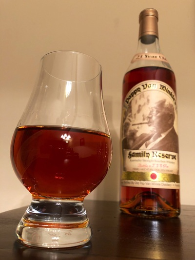 Closeup of Pappy Van Winkle Family Reserve - 23 Years Old