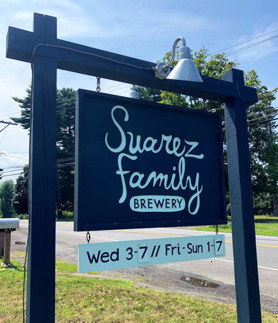Suarez Family Brewery Sign