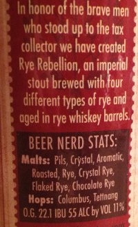 Full Pint Rye Rebellion Beer Nerd Details