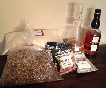 Ingredients for my Homebrewed RIS