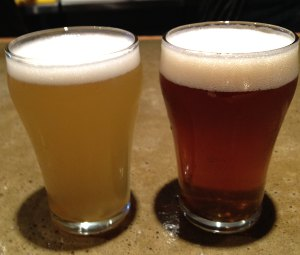 Tired Hands Borage Saison and Hop-A-Tact IPA