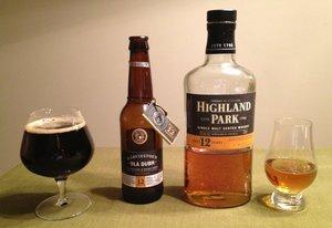 Harviestoun Ola Dubh 12 and Highland Park 12