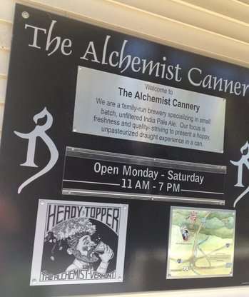 The Alchemist Cannery sign