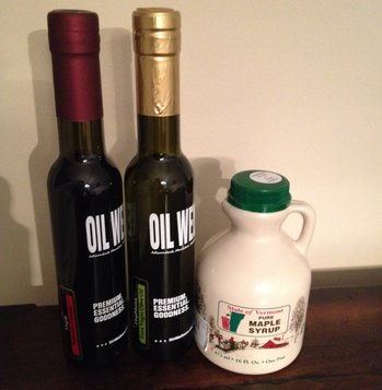Olive Oil and Balsamic Vinegar and Maple Syrup
