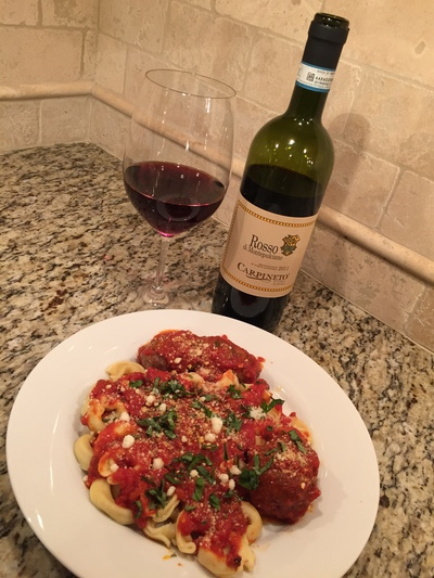Dinner and Rosso di Montepulciano