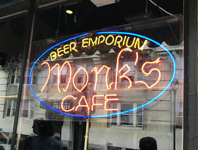 Monks Cafe Neon Sign