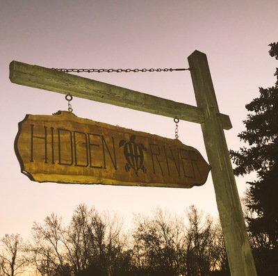 Hidden River Sign