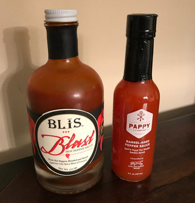 BLiS Blast and Pappy and Company Hot Pepper Sauce