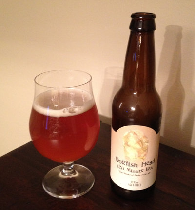 2012 Picture of a freshish bottle of Dogfish Head 120 Minute IPA