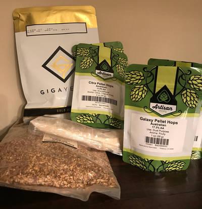 Ingredients for my homebrewed IPA