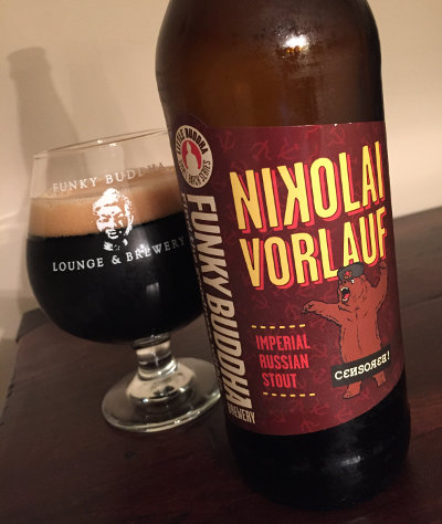 Funky Buddha Nikolai Vorlauf, look at the bear on the label