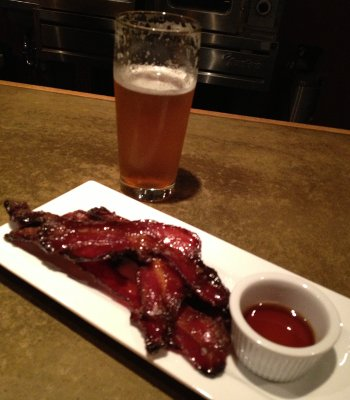 Dinner of Champions: Tired Hands AromaFlavor and Candied Bacon